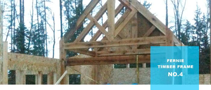Fernie BC Timber Frame: SIP Panels Begin to Take Shape